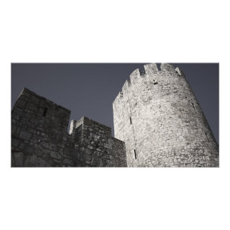 Belgrade Medieval Fortress Stone Wall and Tower Card