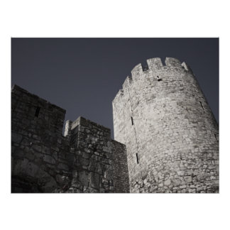 Belgrade Medieval Fortress Stone Wall and Tower Posters