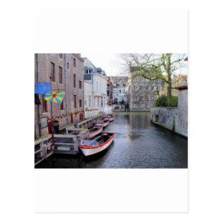 Belguim River Postcard