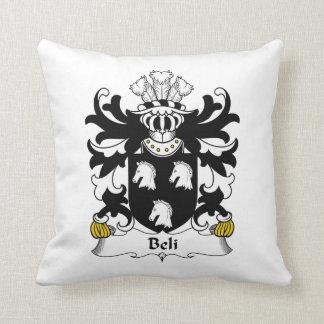 Beli Family Crest Throw Pillow
