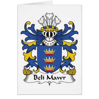 Beli Mawr Family Crest Card