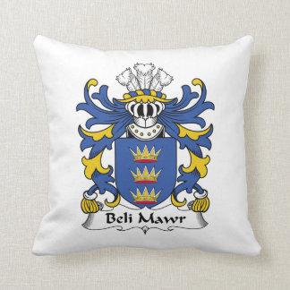 Beli Mawr Family Crest Throw Pillows