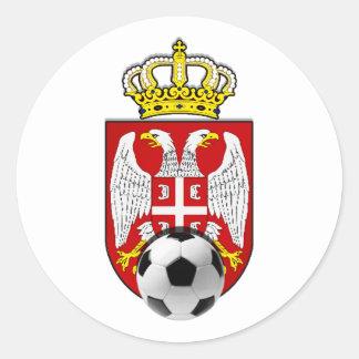 Beli Orlovi White Eagles Serbia Srbija soccer Round Sticker
