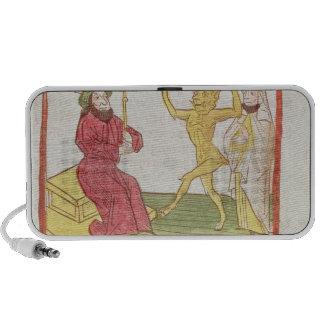 Belial baila ante rey Solomon Laptop Altavoces