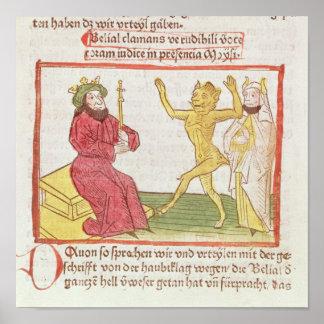 Belial baila ante rey Solomon Impresiones