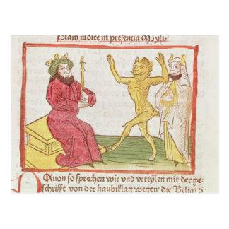 Belial baila ante rey Solomon Tarjeta Postal