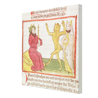 Belial dances before King Solomon Gallery Wrap Canvas