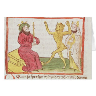 Belial dances before King Solomon Card