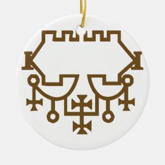 Belial Goetic Seal Ceramic Ornament