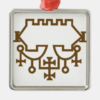 Belial Goetic Seal Metal Ornament