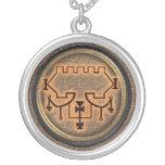 belial round pendant necklace