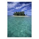 Belice, barrera de arrecifes, isla innomada o isle foto
