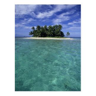 Belice, barrera de arrecifes, isla innomada o isle tarjetas postales