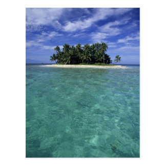 Belice, barrera de arrecifes, isla innomada o postales