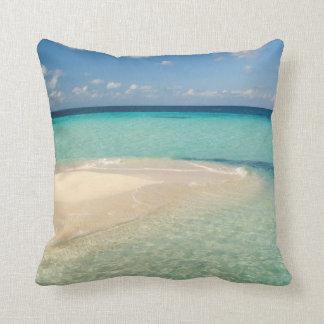 Belice, mar del Caribe. Goff Caye, una pequeña Cojin