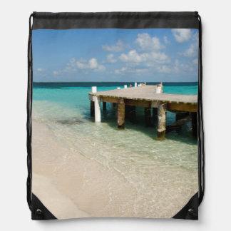 Belice, mar del Caribe, Goff Caye. Una pequeña Mochilas