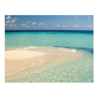 Belice, mar del Caribe. Goff Caye, una pequeña Tarjeta Postal