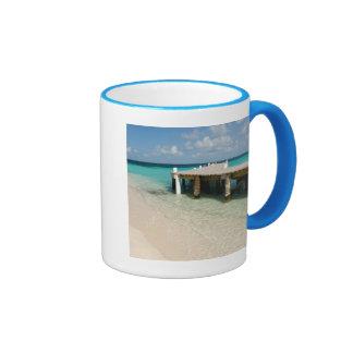 Belice, mar del Caribe, Goff Caye. Una pequeña Taza De Dos Colores