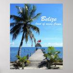 Belice - tierra de muchos Cayes Póster