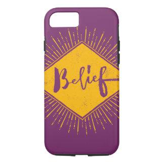 Belief - Hand Lettering Typography Design iPhone 8/7 Case
