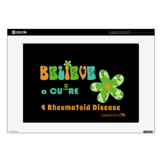 Belief in a cure decal for laptop