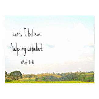 Belief postcard