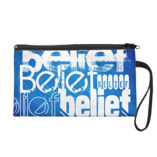 Belief; Royal Blue Stripes Wristlet