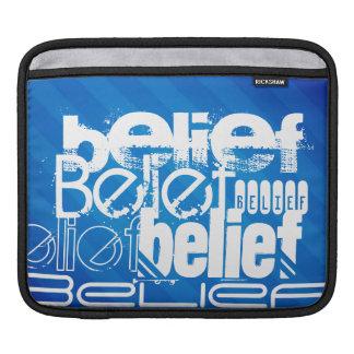 Belief; Royal Blue Stripes iPad Sleeves