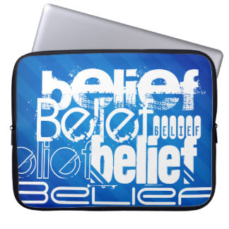 Belief; Royal Blue Stripes Computer Sleeves