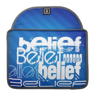 Belief; Royal Blue Stripes Sleeves For MacBooks