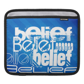 Belief; Royal Blue Stripes Sleeve For iPads