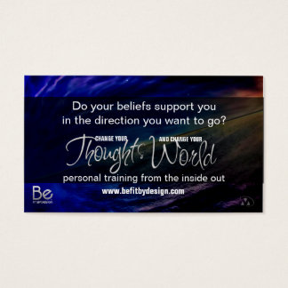 Belief - The seeds you Sow and Your Goals Business Card