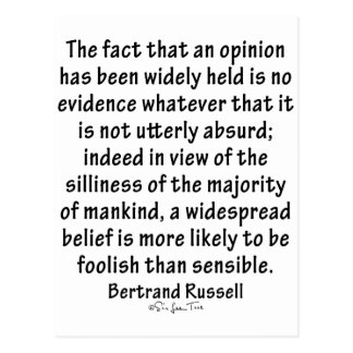 Beliefs by Bertrand Russell Postcard