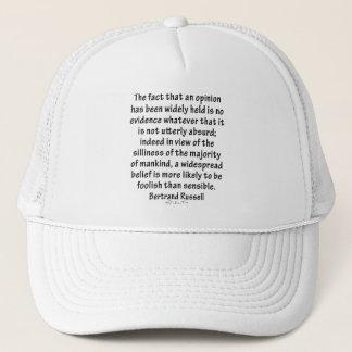 Beliefs by Bertrand Russell Trucker Hat