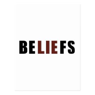 Beliefs Postcard