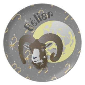 Bélier 21 Mars outer 20 avril Assiettes Dinner Plate