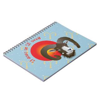 Bélier 21 Mars outer 20 avril Carnets Spiral Notebook