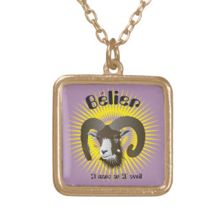 Bélier 21 Mars outer 20 avril collier Gold Plated Necklace