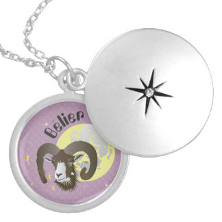 Bélier 21 Mars outer 20 avril collier Locket Necklace