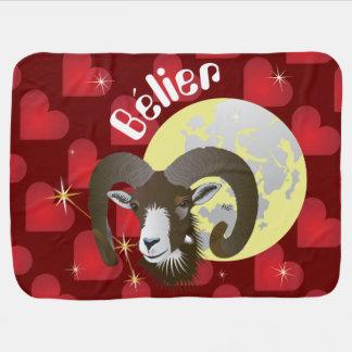 Bélier 21 Mars outer 20 avril Couverture bébé Receiving Blanket