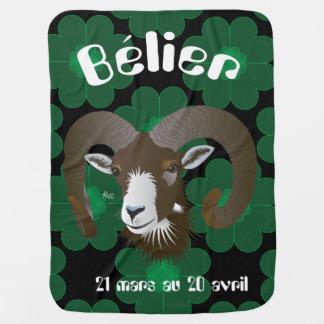 Bélier 21 Mars outer 20 avril Couverture bébé Swaddle Blanket
