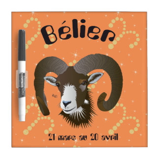 Bélier 21 Mars outer 20 avril Dry-Erase Board