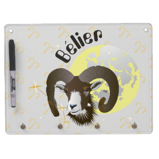 Bélier 21 Mars outer 20 avril Dry Erase Board With Keychain Holder