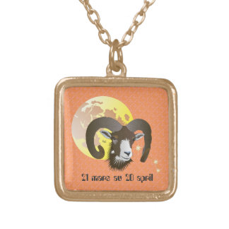 Bélier 21 Mars outer 20 avril Gold Plated Necklace