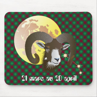 Bélier 21 Mars outer 20 avril Tapis de souris Mouse Pad