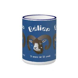 Bélier 21 Mars outer 20 avril Tasses Ringer Mug