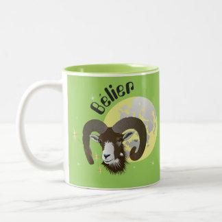 Bélier 21 Mars outer 20 avril Tasses Two-Tone Coffee Mug