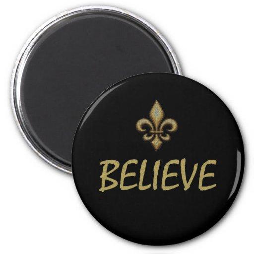 Believe 2 Inch Round Magnet