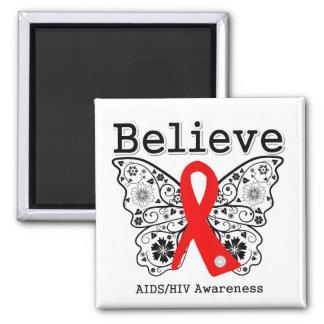 Believe AIDS Awareness Refrigerator Magnet