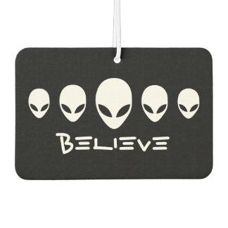 Believe Aliens Car Air Freshener